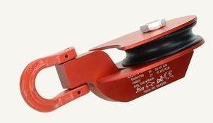 Ablenkrolle LT rot 30kN mit Kunststoffrolle