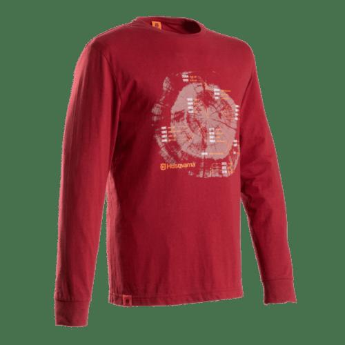 Husqvarna XPLORER T-Shirt ANNUAL RINGS langarm
